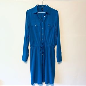 Vivid Blue Ralph Lauren shirt dress.